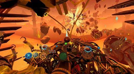 Players pilot an ethercraft in Stardust Odyssey.