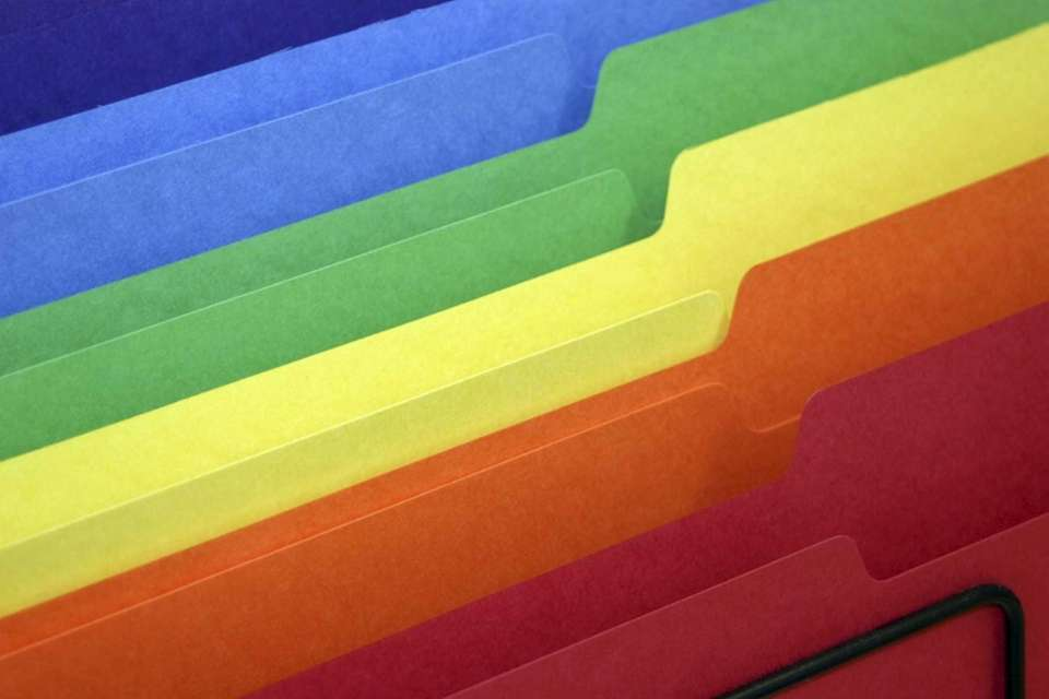 Practice color coding. Purchasing color-coordinated folders to match