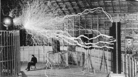 Nikola Tesla's Colorado Springs laboratory in 1899.