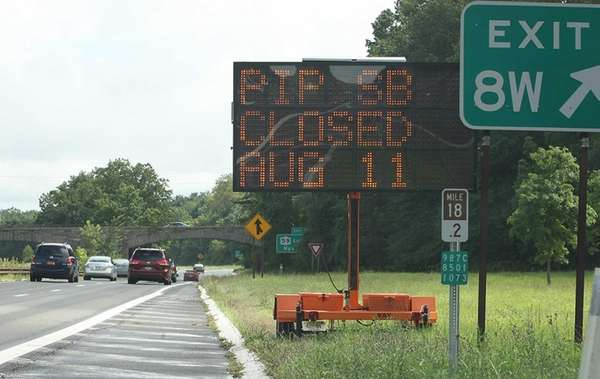 Signs along the Palisades Parkway alert motorists that
