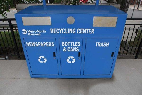 Metro-North railroad recycling center at Irvington train station.