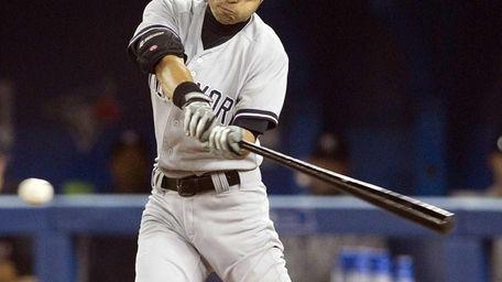 Ichiro Suzuki grounds into a fielder's choice during