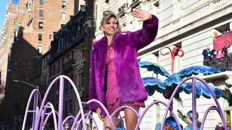 Merrick-raised Debbie Gibson aboard a float at the