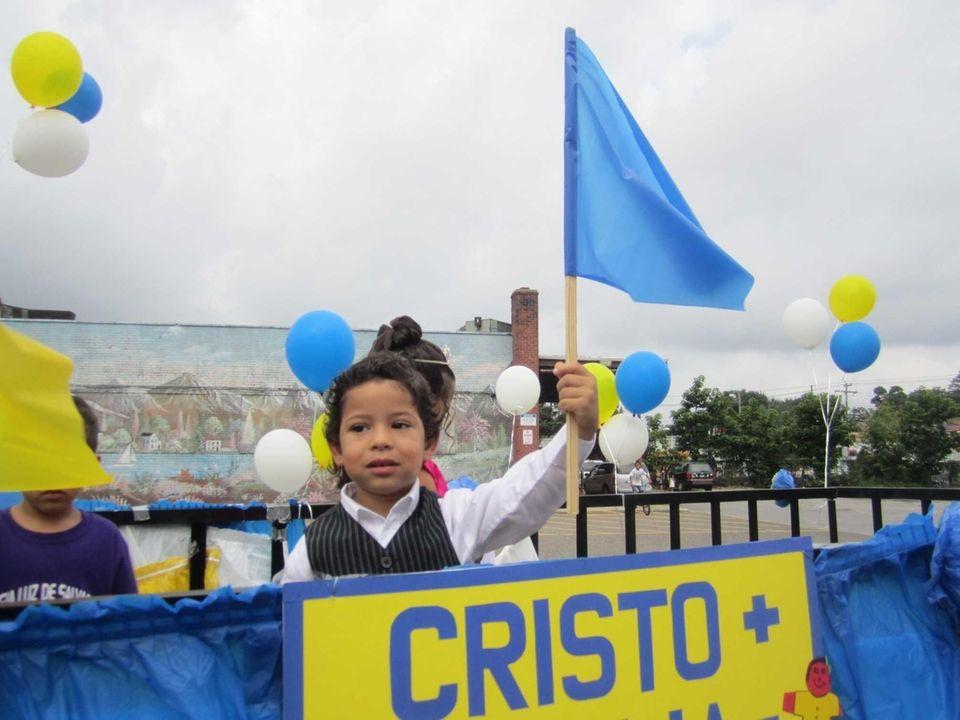 Five-year-old Joel Ramirez, a member of the Iglesia