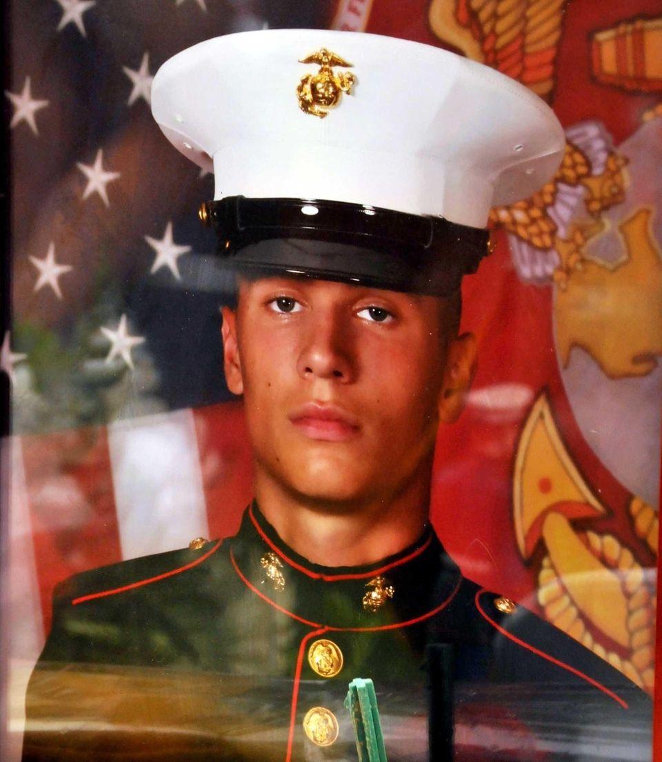 Marine Lance Cpl. Greg Buckley Jr., 21, of