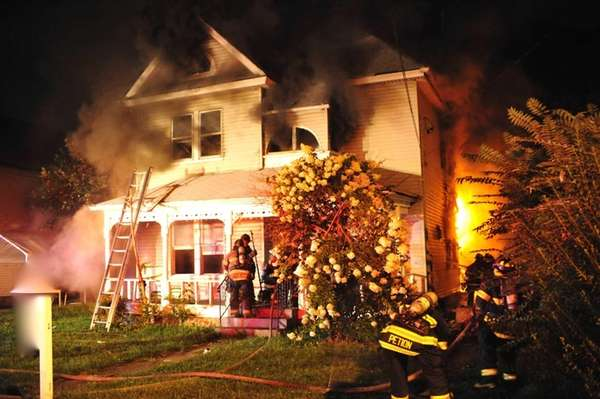 Nine fire departments responded to a fire in