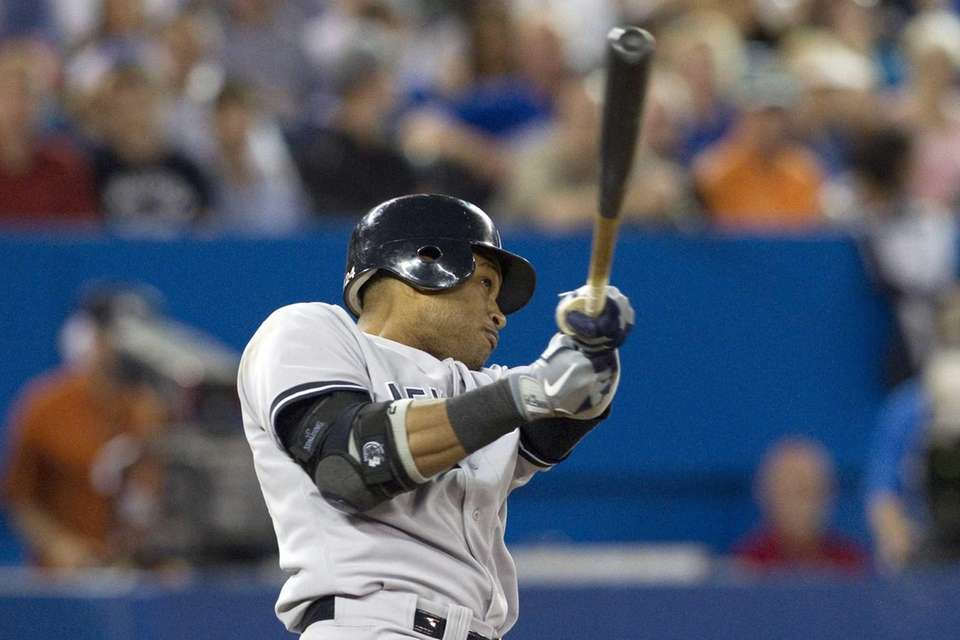 Robinson Cano hits a two-run homer off Toronto