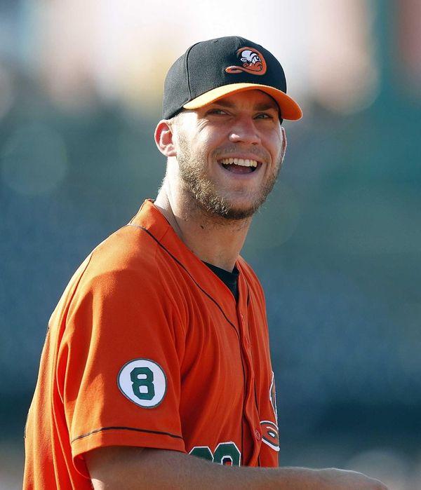 Ducks first baseman Joash Brodin. (August 12, 2012)