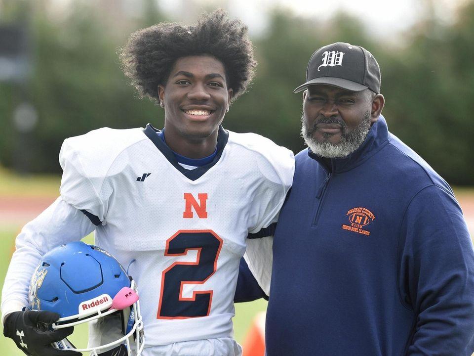 Idris Carter #2, Roosevelt quarterback, and father Tony