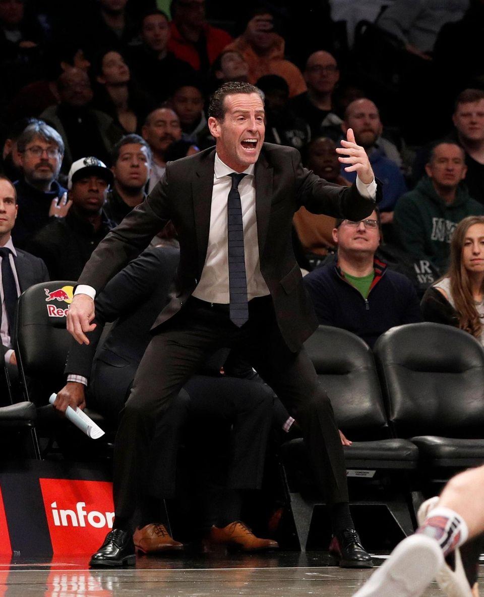 Head coach Kenny Atkinson of the Brooklyn Nets