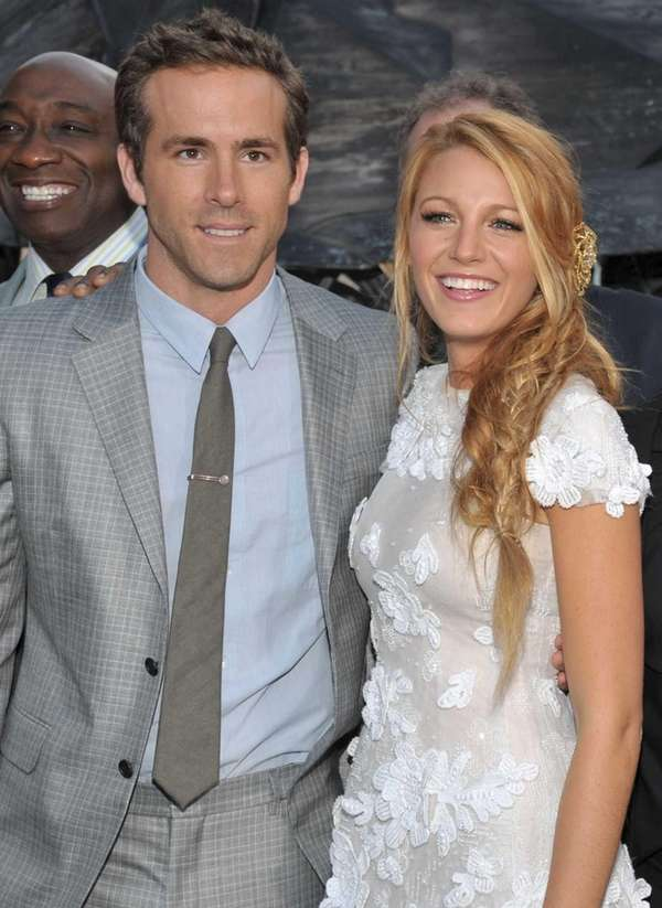 Actors Blake Lively and Ryan Reynolds arrive at