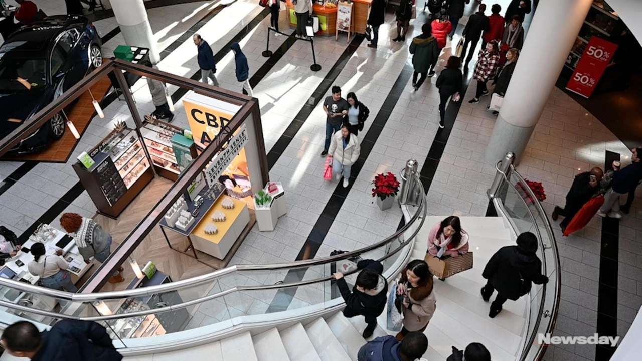 From trainstores to clothing stores, shoppers trooped to