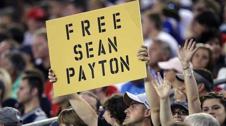 A New Orleans Saints fan expresses his sentiments