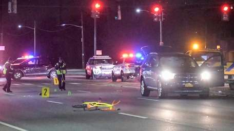 A teen bicyclist died after he was hit