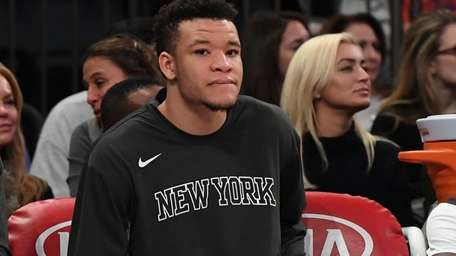 Knicks forward Kevin Knox, shown here Sunday, Nov.