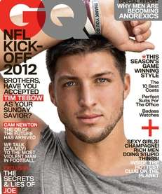 Tim Tebow on the September 2012 issue of
