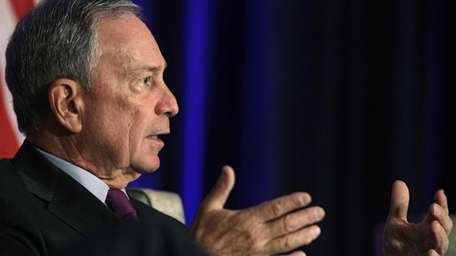 New York City Mayor Michael Bloomberg takes part