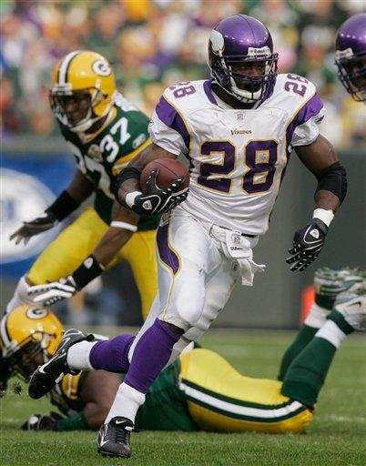 Adrian Peterson, the 24-year-old running back for the