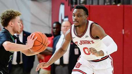 Mustapha Heron #0 of the St. John's Red