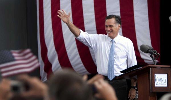 Former Massachusetts Gov. Mitt Romney, the presumptive GOP