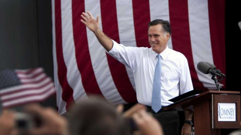 Former Massachusetts Gov. Mitt Romney, the presumptive GOP