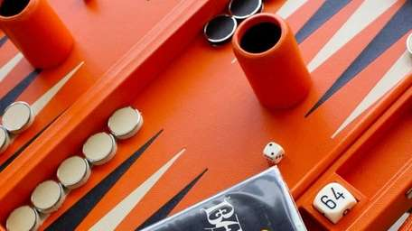 A backgammon set available at MONC XIII in