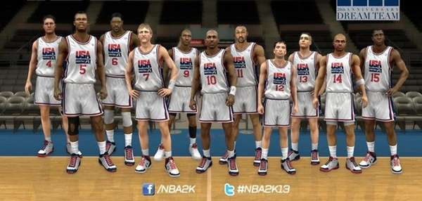 Game photo of the Dream Team on NBA