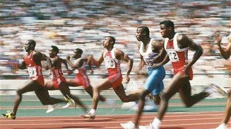 Competitors taking part in the final of the