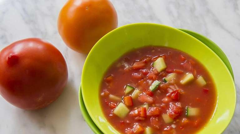 American-style red gazpacho is prepared by food writer