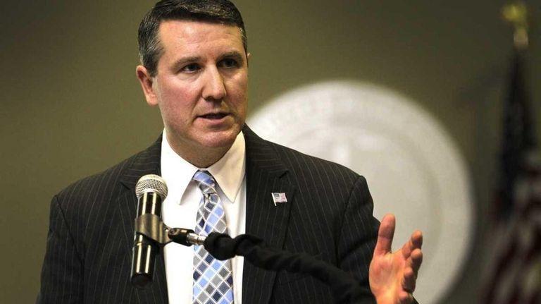 Brookhaven Supervisor Mark Lesko speaks during the State