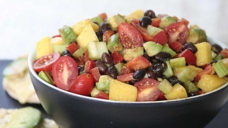 Black bean salad. (August 2012)