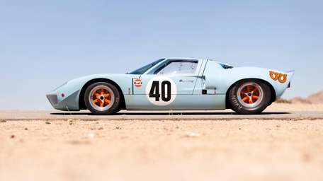 The 1968 Ford GT40 Gulf/Mirage Lightweight racing car