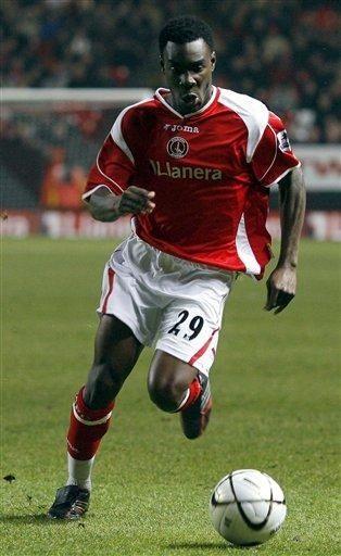 Charlton Athletic's Lloyd Sam runs for the ball