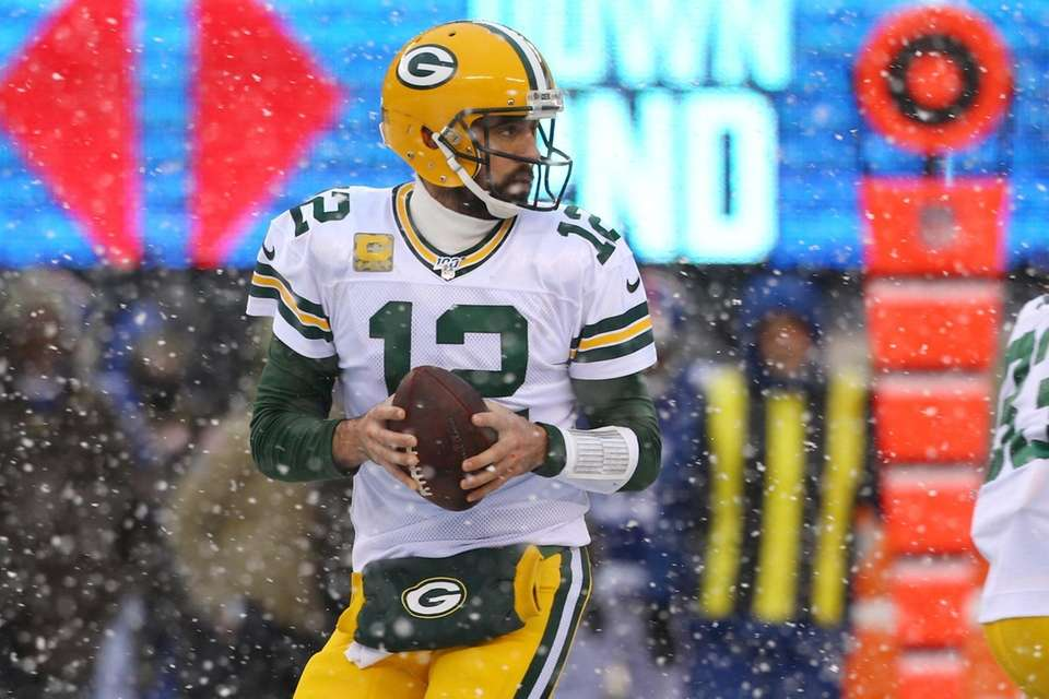 Aaron Rodgers #12 of the Green Bay Packers
