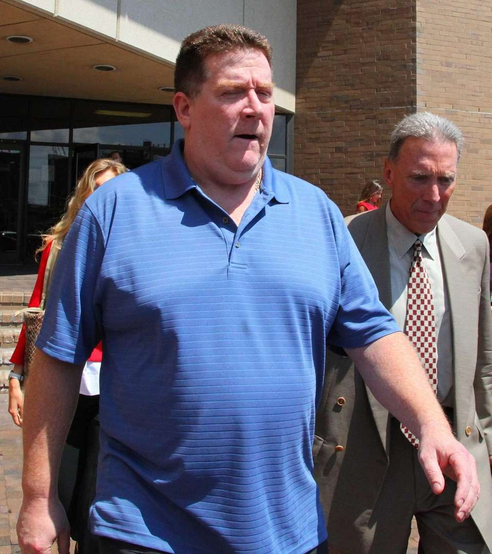 Raymond Roth leaves Nassau County District Court after