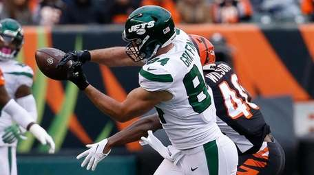 Jets tight end Ryan Griffin can't catch a