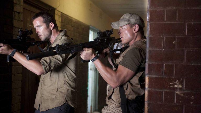 Pictured from left, Sullivan Stapleton as Damien Scott