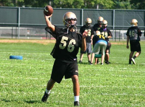 Sayville quarterback Zach Sirico. (Aug. 16, 2012)