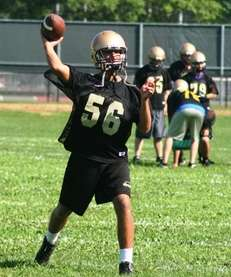 Sayville quarterback Zach Sirico. (Aug. 16, 2012)