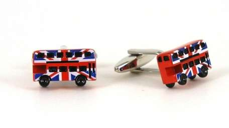 Epoxy and polished rhodium double-decker cufflinks, $20; at
