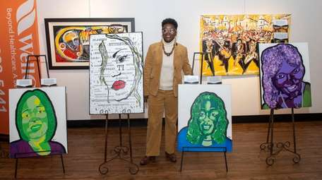 Artist Nichelle Rivers shows work from her trans