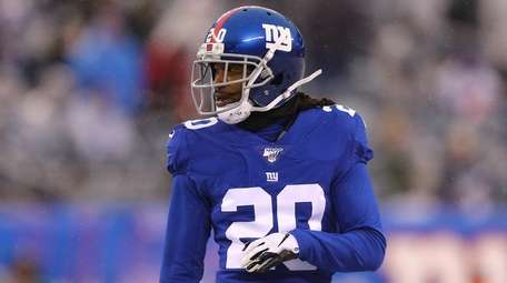 Janoris Jenkins of the Giants looks on against
