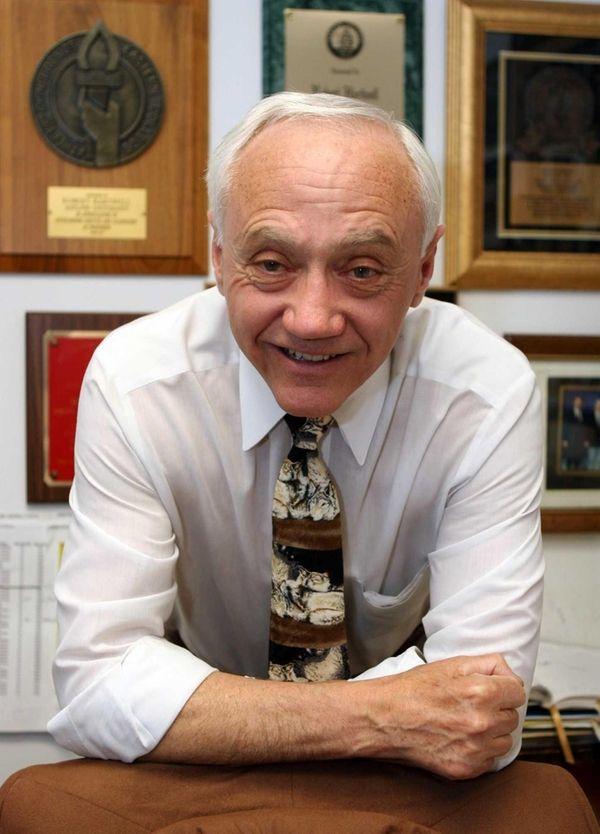 Adelphi Athletic Director Bob Hartwell in Woodruff Hall.