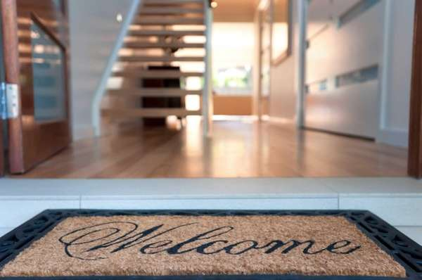 Roll out the welcome mat, literally.