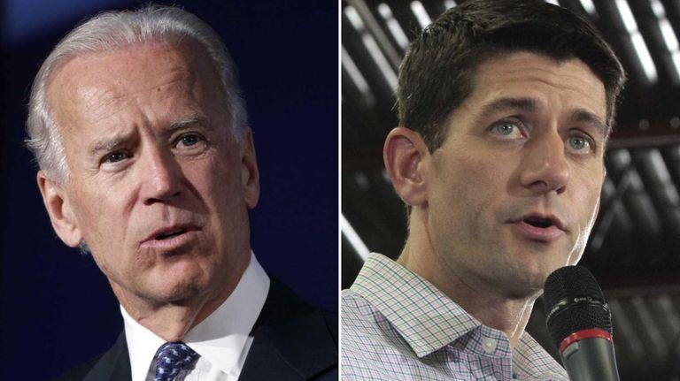 Vice President Joe Biden, left, and Republican vice