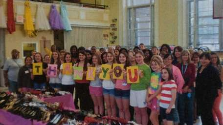 Girl Scouts have helped collect donations for the