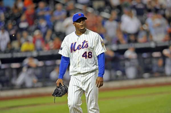 Frank Francisco appears leaves a game against the