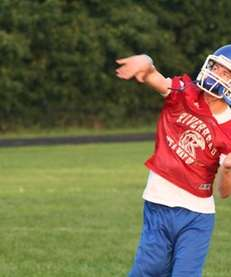 Riverhead quarterback Ryan Bitzer will let it fly