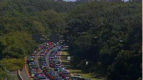 A fatal car accident has closed eastbound lanes
