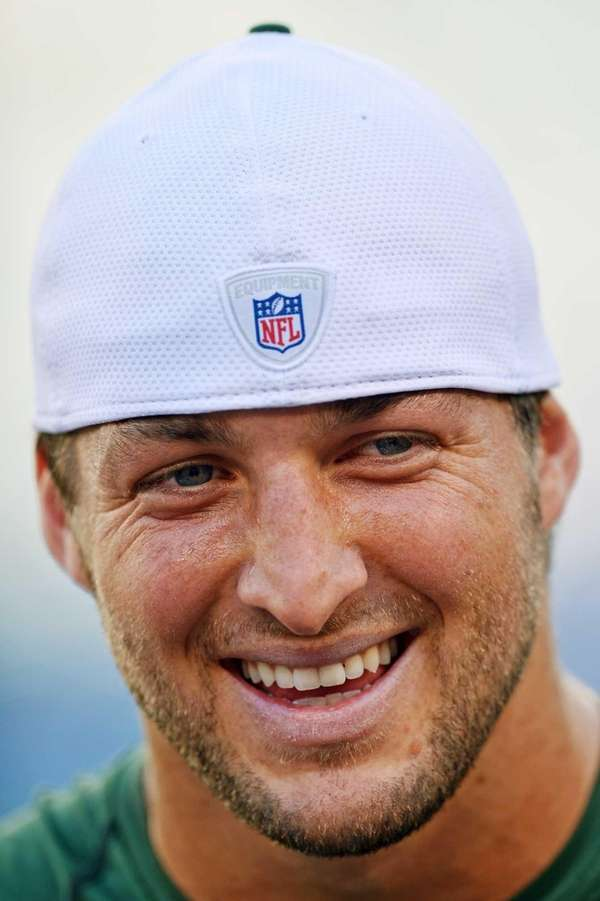 EAST RUTHERFORD, NJ - AUGUST 18: Tim Tebow